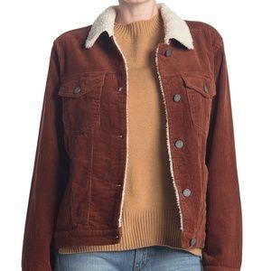 BLANKNYC Denim Corduroy Shearling Button Jacket